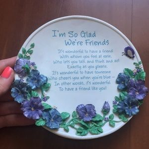 Ceramic decorative plate card for Frend.